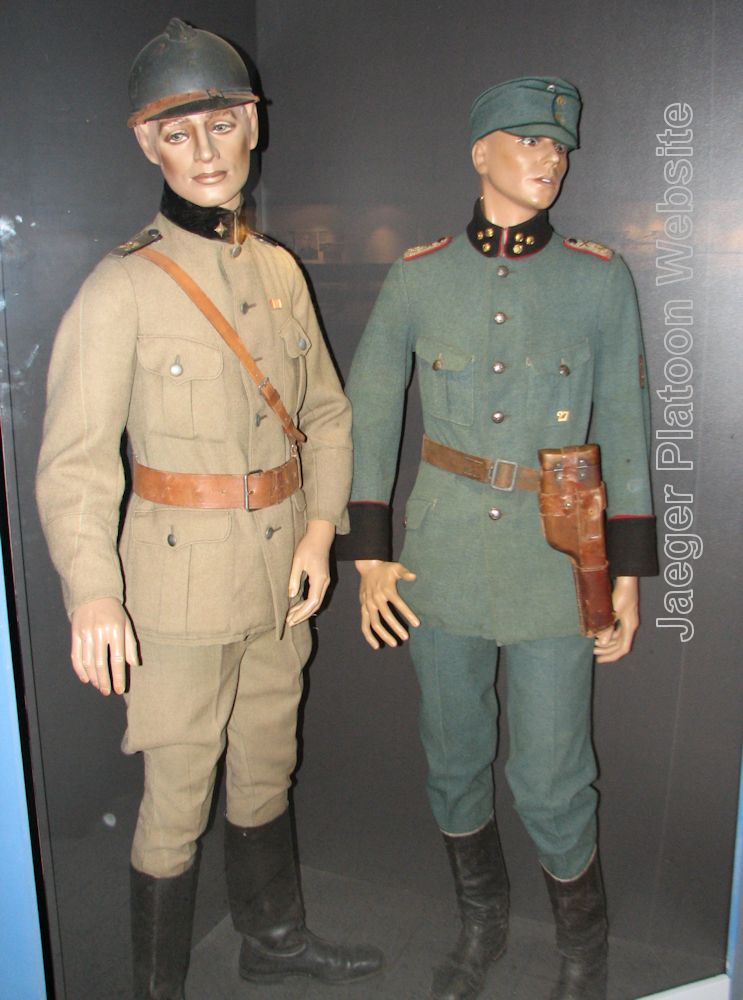 0e61e0bb7cf PICTURE  Two Finnish officer s uniforms from circa 1918 - 1919. The  brown-grey 2nd Lieutenant s on the left is a rare example of uniform made  to fit for ...